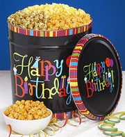 The Popcorn Factory Birthday Wishes 3-way Tin