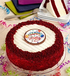 Happy Birthday Red Velvet Cheesecake from Junior's