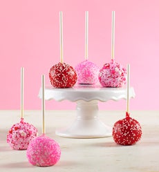 Decadent Happy Valentine's Day Truffle Cake Pops - Decadent Truffle Cake Pops
