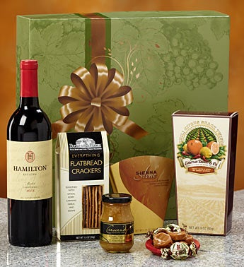 Hamilton Estates� California Merlot Wine Gift Box