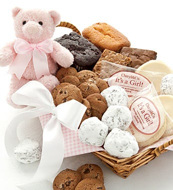 Mrs. Beasley?s Welcome Baby Girl Gift Basket