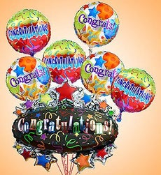 Congratulations Marquee Mylar Bundle - Large