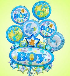 Baby Boy Marquee Mylar Bundle - Large