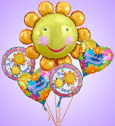Smile Flower Mylar Bundle - Small