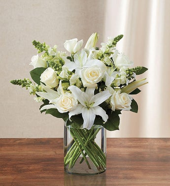 1-800-Flowers.com Classic All White Arrangement for Sympathy