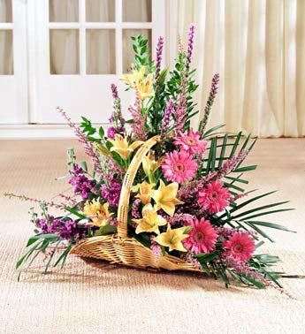 Sympathy Arrangement in a Basket