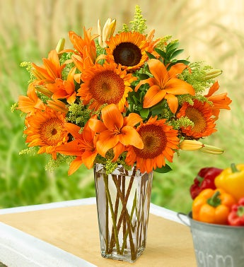 Pumpkin Spice Sunflowers