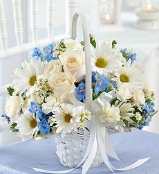 Compare Prices on Blue and White Flower Girl Basket On Sale