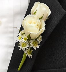 Blue and White Ring Bearer Boutonniere