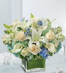 Blue and White Centerpiece Package - Set of 15