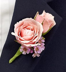 Pink Ring Bearer Boutonniere