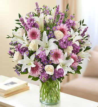 Majestic Heather Lavender, Lilies and Roses Bouquet