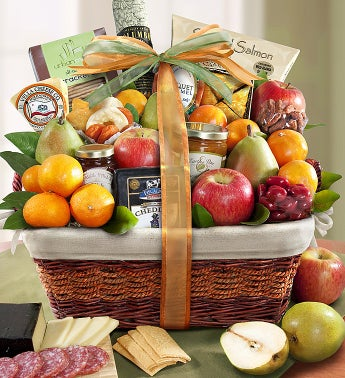 image of Sierra Sensation Fruit & Gourmet Gift Basket
