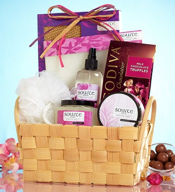 Loving Luxury Spa Gift Basket and Godiva Chocolate