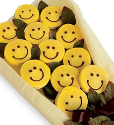 Cheryl's Happy Face Gourmet Cookie Flowers