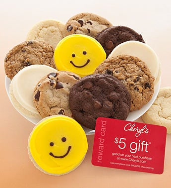 12 for $12 Happy Face Gourmet Cookie Sampler