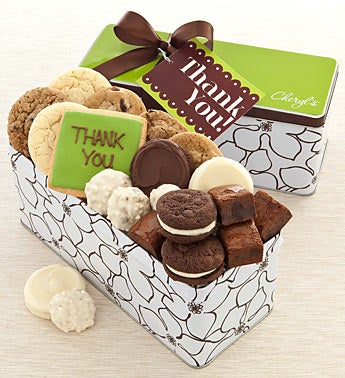 Cheryls Thank You Spring Cookie & Sweets Gift Tin