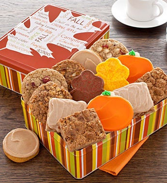 Cheryl's Fall Cookie & Brownie Tin 16ct
