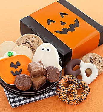 Cheryl's Jack O Lantern Halloween Treats Box