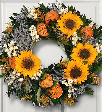 Sunflower & Lavender Wreath