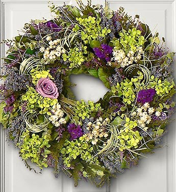 Lavender Rose and Hydrangea Preserved Wreath