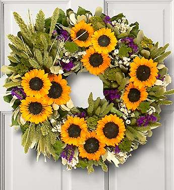 Sunflower Valley Preserved Wreath