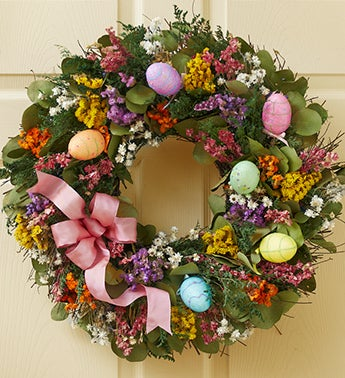 Glittered Easter Egg Wreath