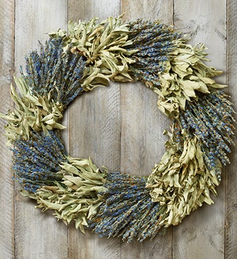 Lavender and Sage Preserved Wreath