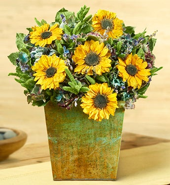 Sunflower Mist Table Accent