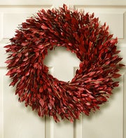 Preserved Red Myrtle Wreath - 16""