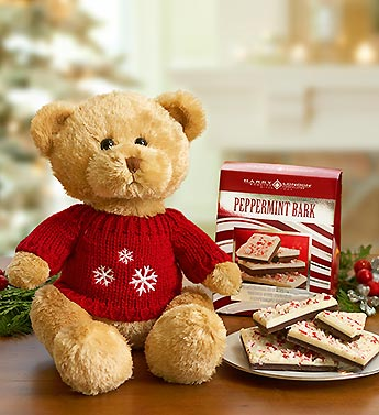 Bear with Red Sweater and Peppermint Bark