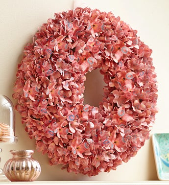 Rose Floral Paper Wreath - 14