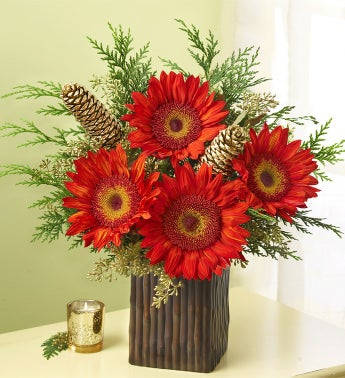 Winter Enchantment Sunflower Bouquet