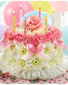 Birthday Flower Cake® Pastel Same-Day Local Florist Delivery Shop Now