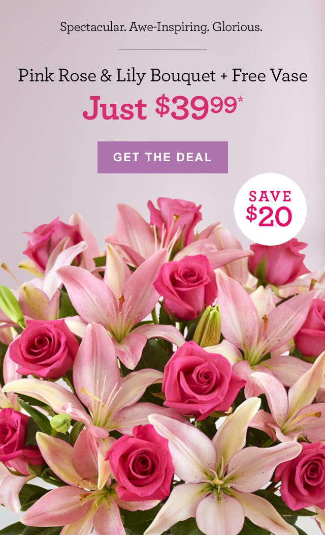 Roses, Lilies & a Free Vase, All for Just $39.99! - 1-800-FLOWERS.COM Email Archive