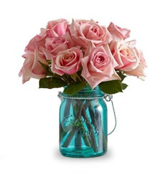 Pink Roses with Mason Jar by Real Simple®