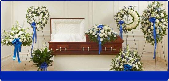 Blue Sympathy Flowers